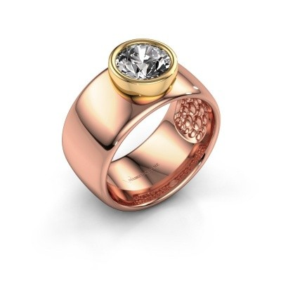 Foto van Ring Klarinda 585 rosé goud zirkonia 7 mm