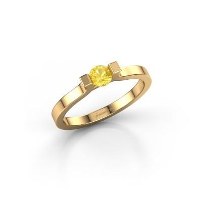 Foto van Verlovingsring Jodee 750 goud gele saffier 4 mm