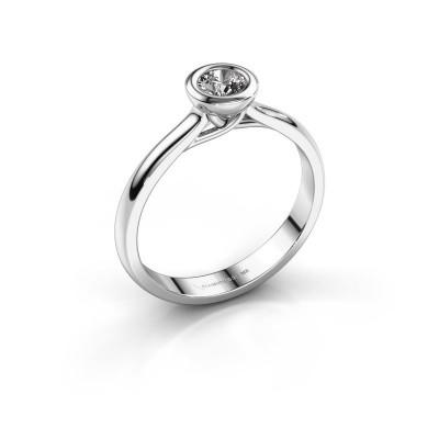Foto van Verlovings ring Kaylee 950 platina diamant 0.25 crt