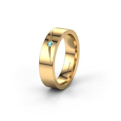Trouwring WH0170L15A 375 goud blauw topaas ±5x1.7 mm