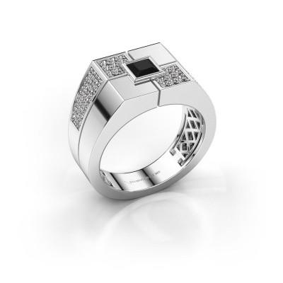Foto van Heren ring Rogier 925 zilver zwarte diamant 1.002 crt