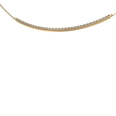 Picture of Bar necklace Simona 585 gold zirconia 1.5 mm