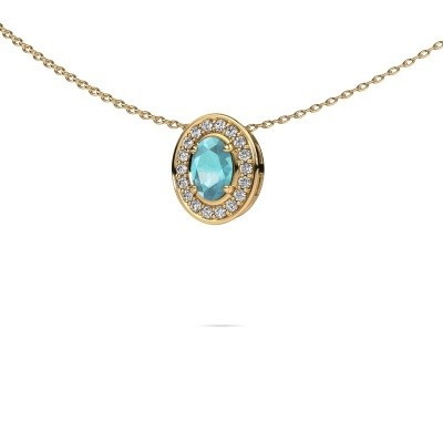 Picture of Necklace Madelon 585 gold blue topaz 6x4 mm