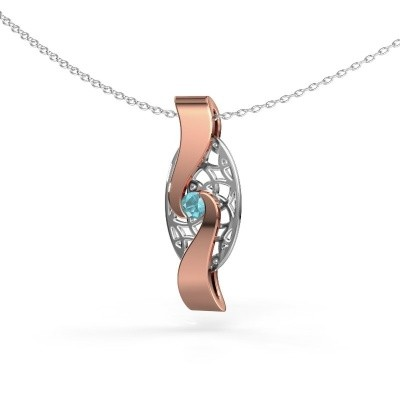 Picture of Pendant Darleen 585 rose gold blue topaz 3 mm