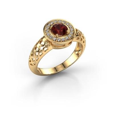 Foto van Ring Katalina 585 goud granaat 5 mm