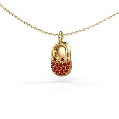 Picture of Pendant Babyshoe 585 gold ruby 1.3 mm