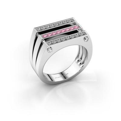 Foto van Heren ring Jauke 950 platina roze saffier 1.7 mm