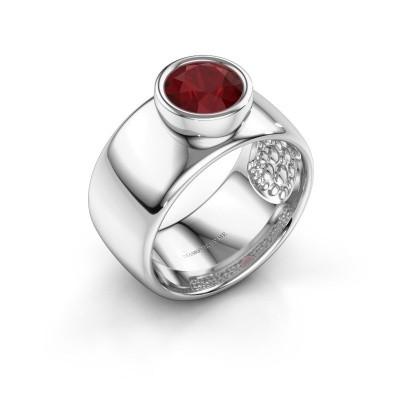 Foto van Ring Klarinda 925 zilver robijn 7 mm
