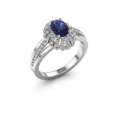 Picture of Engagement ring Twila 585 white gold sapphire 7x5 mm
