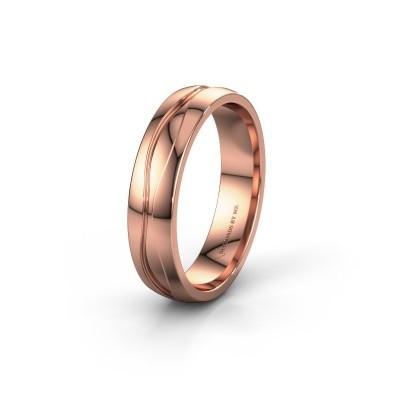 Trouwring WH0172M25A 585 rosé goud ±5x1.7 mm