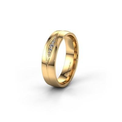 Trouwring WH0133L25AP 585 goud diamant ±5x1.7 mm