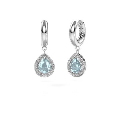 Picture of Drop earrings Barbar 1 585 white gold aquamarine 8x6 mm