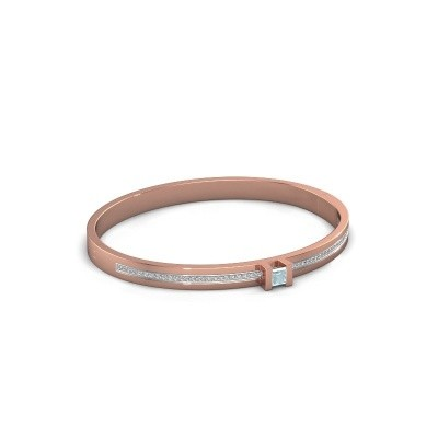 Foto van Armband Desire 585 rosé goud aquamarijn 4 mm