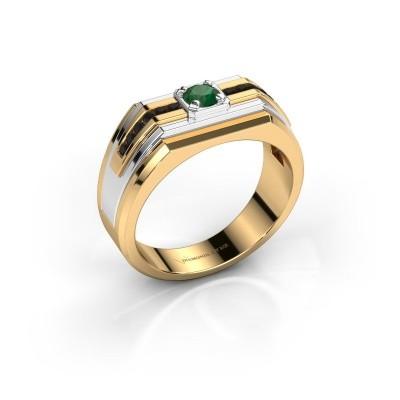 Foto van Heren ring Oliver 585 goud smaragd 4 mm