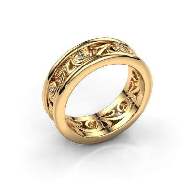 Trouwring Bibi 585 goud diamant ±7x2 mm
