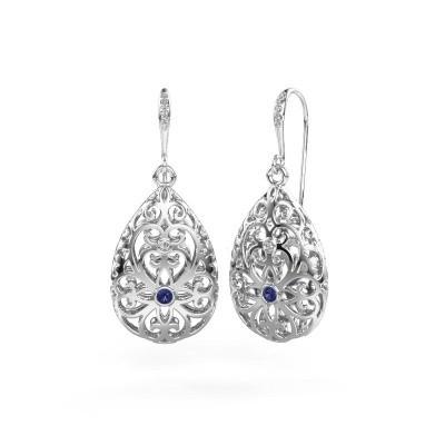 Picture of Drop earrings Idalia 2 950 platinum sapphire 2 mm