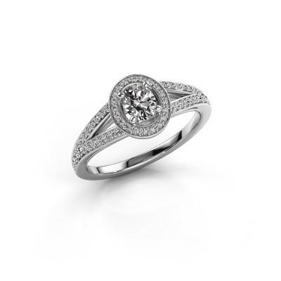 Verlovings ring Angelita OVL 585 witgoud diamant 0.703 crt