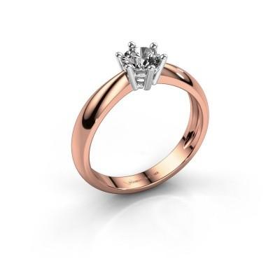 Foto van Verlovingsring Fay 585 rosé goud diamant 0.50 crt