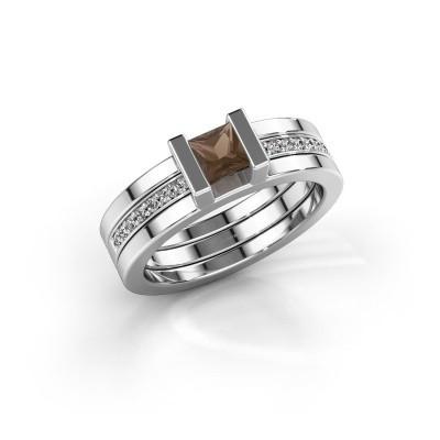 Foto van Ring Desire 925 zilver rookkwarts 4 mm