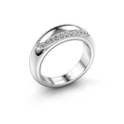 Trouwring Danique 585 witgoud diamant ±6x3 mm