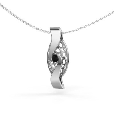 Foto van Hanger Darleen 585 witgoud zwarte diamant 0.12 crt