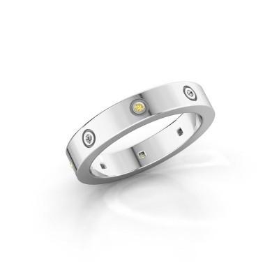 Foto van Ring Carrie 4 925 zilver gele saffier 1.1 mm