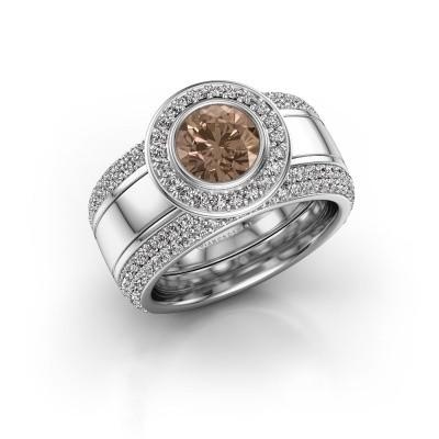 Foto van Ring Roxie 950 platina bruine diamant 2.06 crt