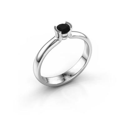 Foto van Verlovingsring Ophelia 585 witgoud zwarte diamant 0.30 crt