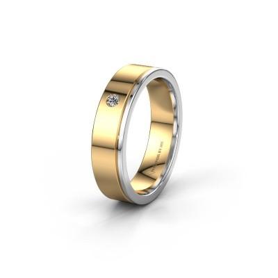 Trouwring WH0501L15AP 585 goud diamant ±5x1.7 mm