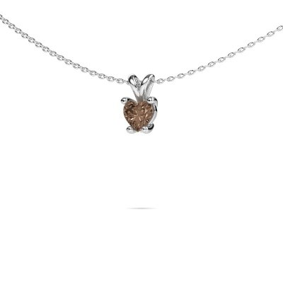 Picture of Necklace Sam Heart 950 platinum brown diamond 0.50 crt