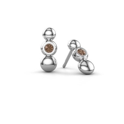 Picture of Earrings Lily 925 silver brown diamond 0.12 crt