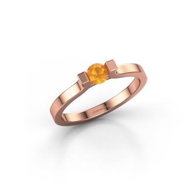 Foto van Verlovingsring Jodee 585 rosé goud citrien 4 mm