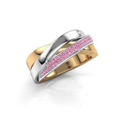 Foto van Ring Katherina 585 goud roze saffier 1 mm