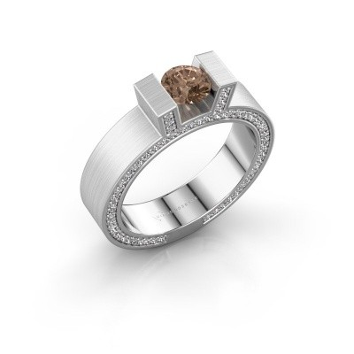 Picture of Ring Leena 2 585 white gold brown diamond 1.08 crt
