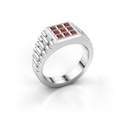 Foto van Rolex stijl ring Chavez 925 zilver granaat 2 mm