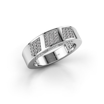 Ring Jessika 585 witgoud diamant 0.30 crt