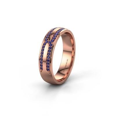 Trouwring WH2212L25AP 585 rosé goud saffier ±5x1.7 mm