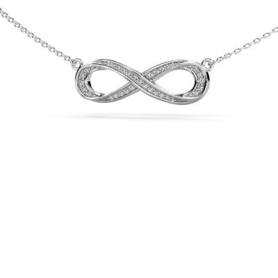 Picture of Necklace Infinity 2 585 white gold diamond 0.123 crt