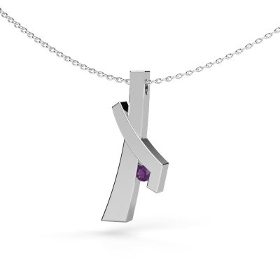 Picture of Pendant Alyssa 585 white gold amethyst 2.7 mm