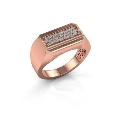 Foto van Heren ring Gerard 375 rosé goud zirkonia 1.4 mm