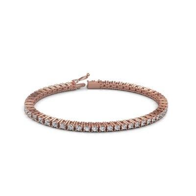 Foto van Tennisarmband Petra 750 rosé goud diamant 5.10 crt