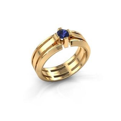 Foto van Heren ring Sem 585 goud saffier 4.7 mm