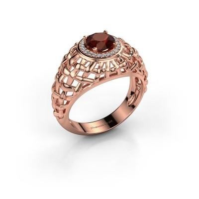 Foto van Pinkring Jens 375 rosé goud granaat 6.5 mm