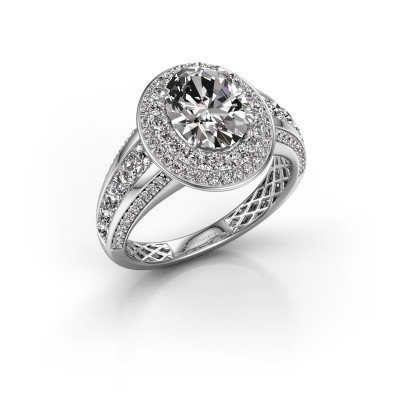 Picture of Engagement ring Nancie 585 white gold diamond 2.89 crt