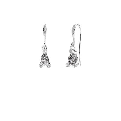 Picture of Drop earrings Bunny 2 375 white gold zirconia 7x5 mm
