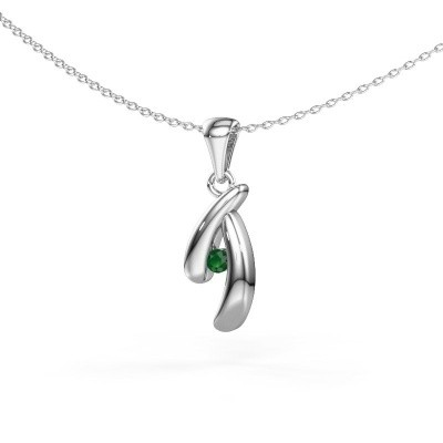 Picture of Pendant Jinke 585 white gold emerald 2.5 mm