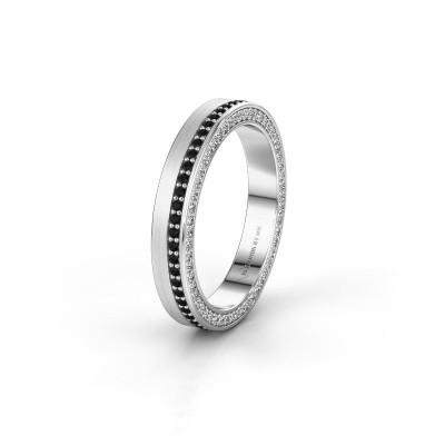 Trouwring WH2214L15BM 950 platina zwarte diamant 0.605 crt ±5x2 mm