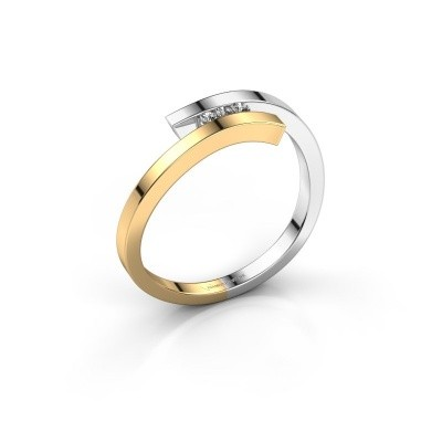 Ring Juliette 585 goud diamant 0.042 crt