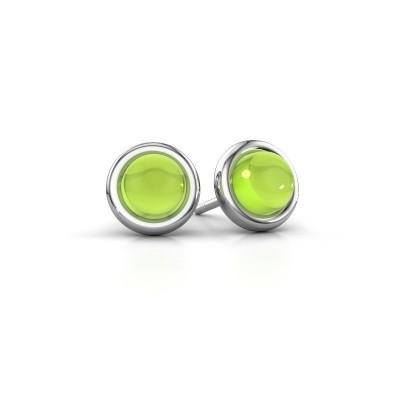 Picture of Stud earrings Jodi 925 silver peridot 6 mm
