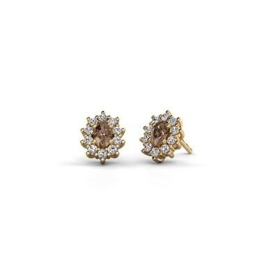 Bild von Ohrringe Leesa 375 Gold Braun Diamant 1.60 crt